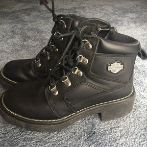 Women's Harley Davidson Leather Ankle Boots